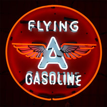 Load image into Gallery viewer, Classic Flying A Gasoline neon sign with winged letter A 02