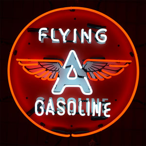Classic Flying A Gasoline neon sign with winged letter A 02