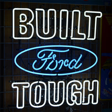 Load image into Gallery viewer, Built Ford Tough neon sign with Ford logo 02