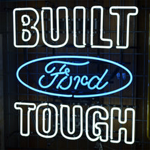 Load image into Gallery viewer, Built Ford Tough neon sign with Ford logo 03