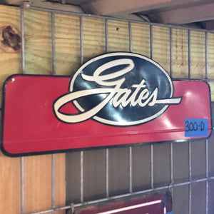 Gates Belt Board Header Vintage Sign