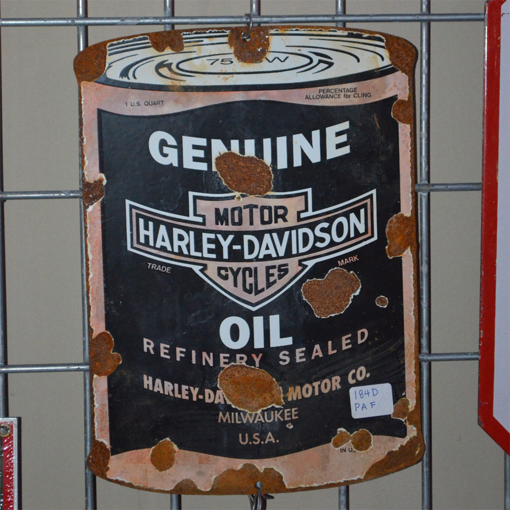 Harley Davidson Oil Vintage Sign