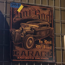 Load image into Gallery viewer, Hot Rod Garage Vintage Sign