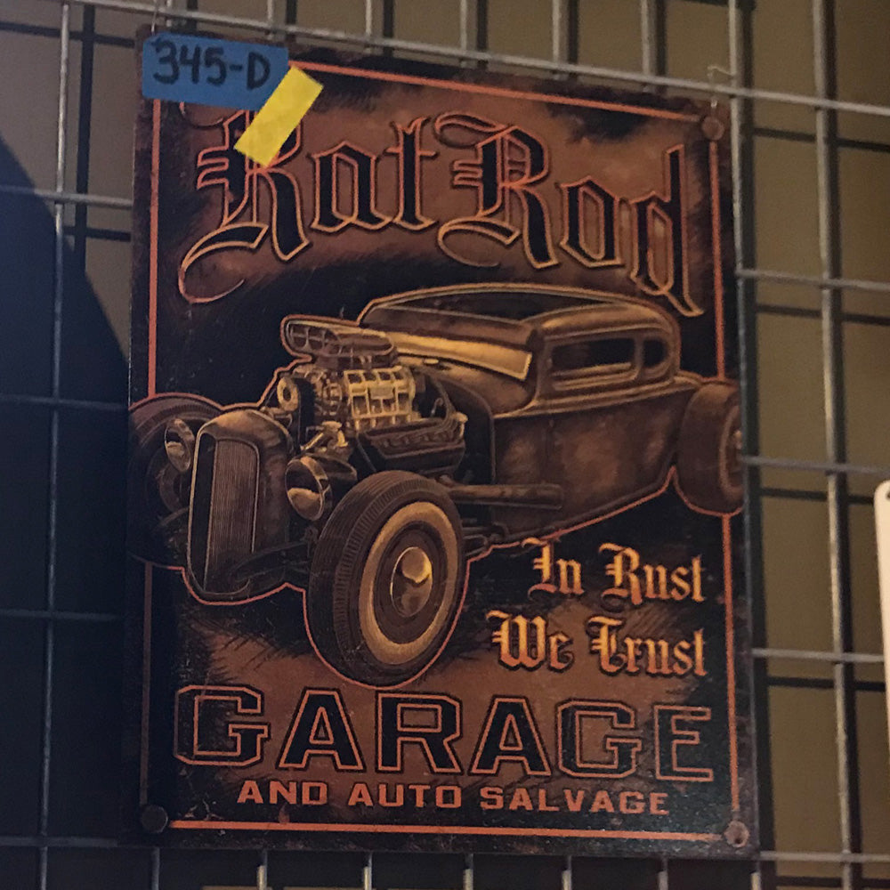 Hot Rod Garage Vintage Sign