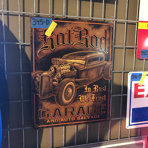 Hot Rod Garage Vintage Sign 02