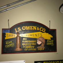 Load image into Gallery viewer, I S Owens & Co  Vintage Sign