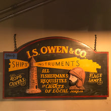 Load image into Gallery viewer, I S Owens & Co  Vintage Sign 02