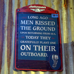 Johnson Boat Motor Vintage Sign 02