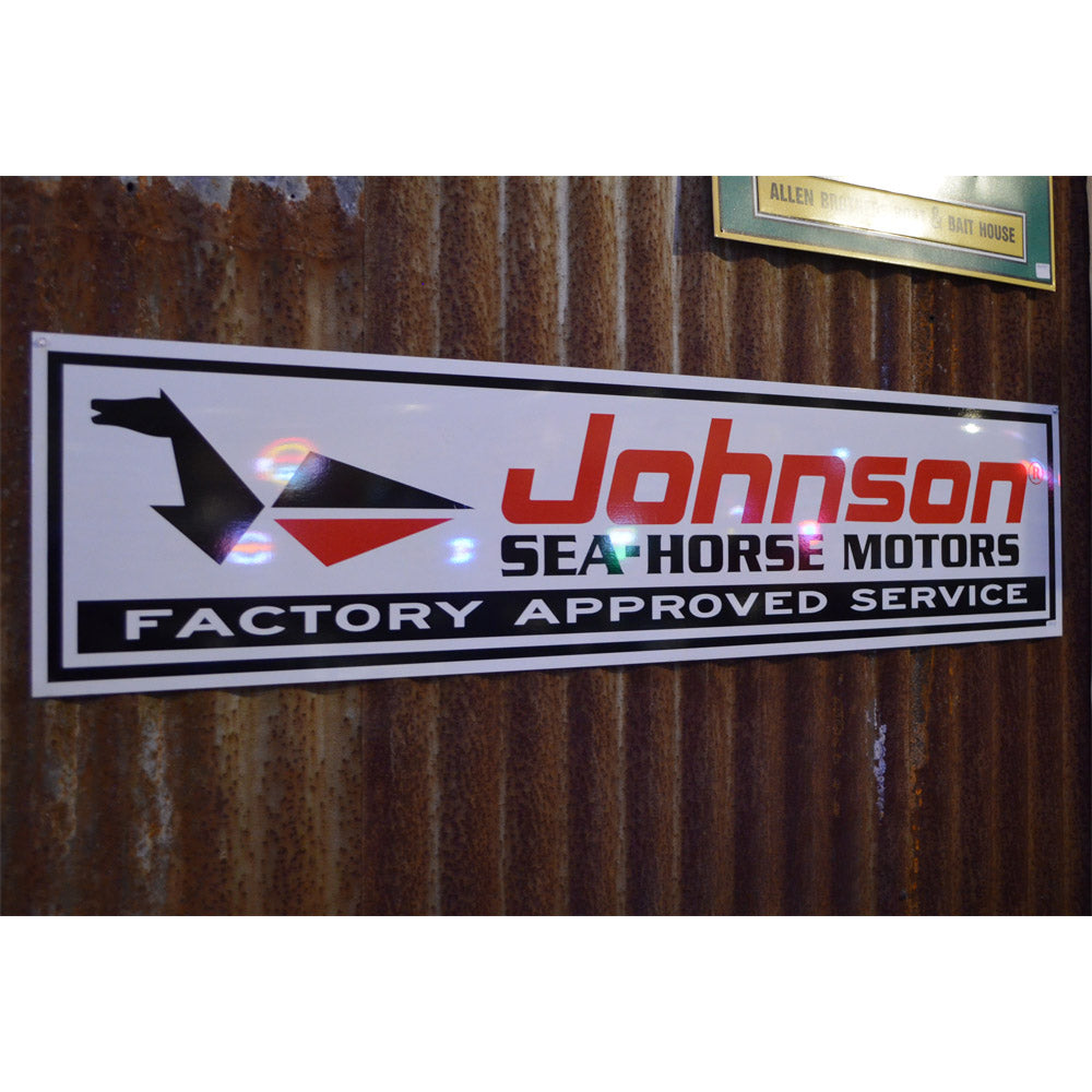 Johnson Sea Horse Outboard Motors Vintage Sign