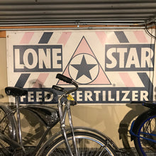 Load image into Gallery viewer, Lone Star Feed & Fertilzer Vintage Sign 02