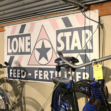 Load image into Gallery viewer, Lone Star Feed & Fertilzer Vintage Sign 03