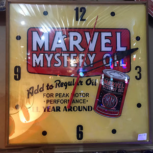 Marvel Mystery Oil Clock