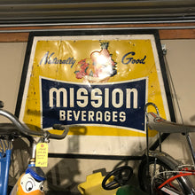 Load image into Gallery viewer, Mission Beverages Vintage Sign 03