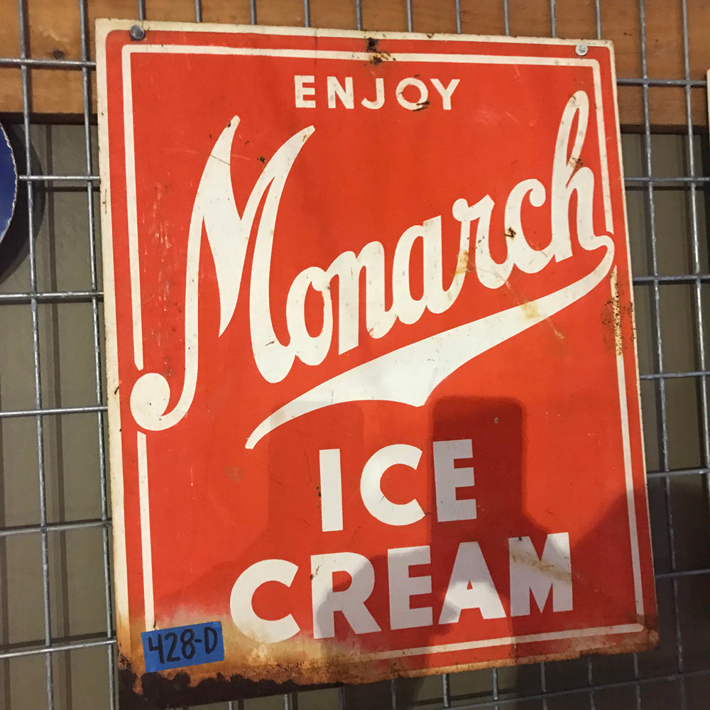 Monarch Ice Cream Vintage Sign