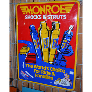 Monroe Shocks & Struts Vintage Sign