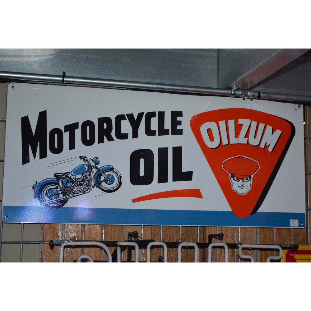 Oilzum Motorcycle Oil Vintage Sign