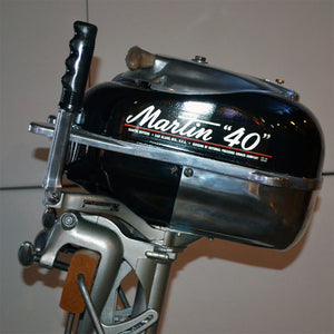 Martin 40 Black Used Outboard Motor 08