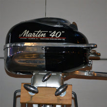 Load image into Gallery viewer, Martin 40 Black Used Outboard Motor 14