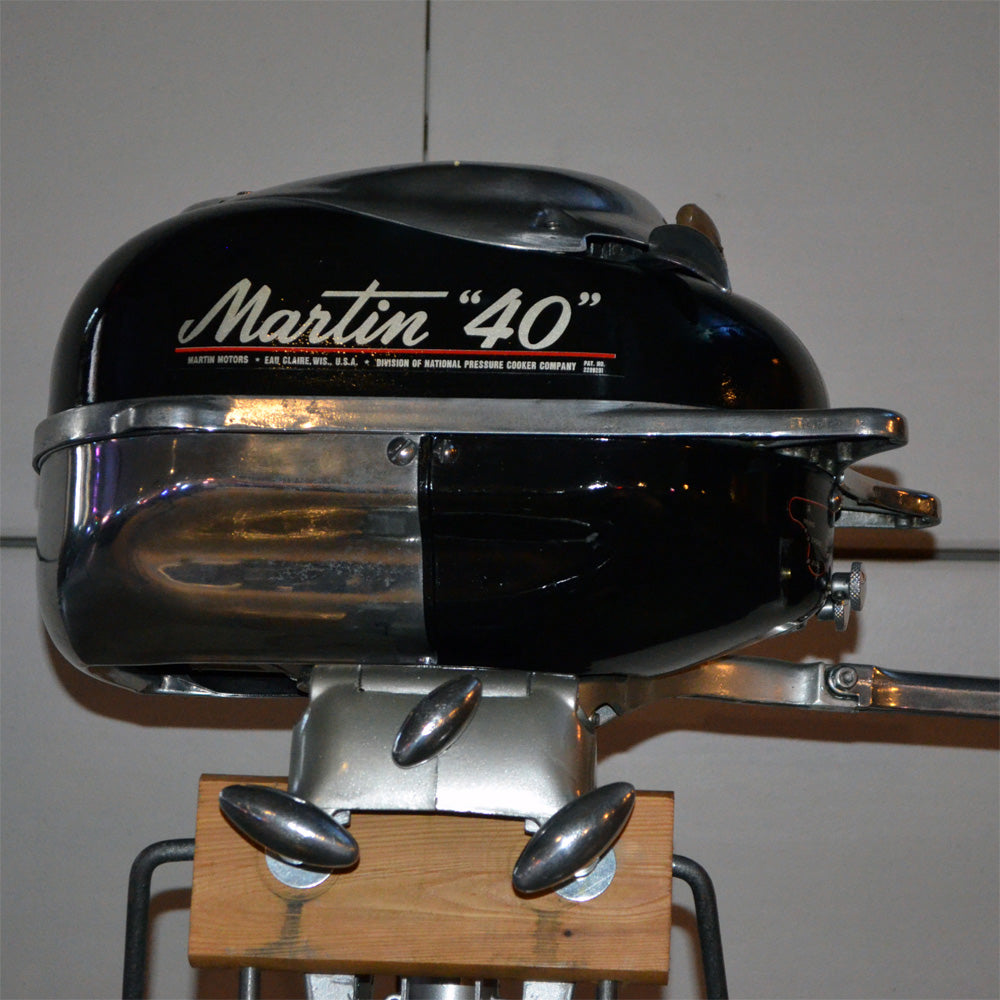 Martin 40 Black Used Outboard Motor 14