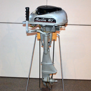 Martin 40 Silver Used Outboard Motor 04