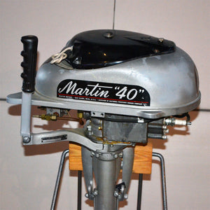 Martin 40 Silver Used Outboard Motor 06