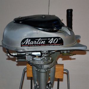 Martin 40 Silver Used Outboard Motor 09