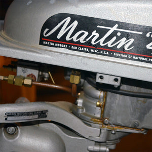 Martin 40 Silver Used Outboard Motor 13