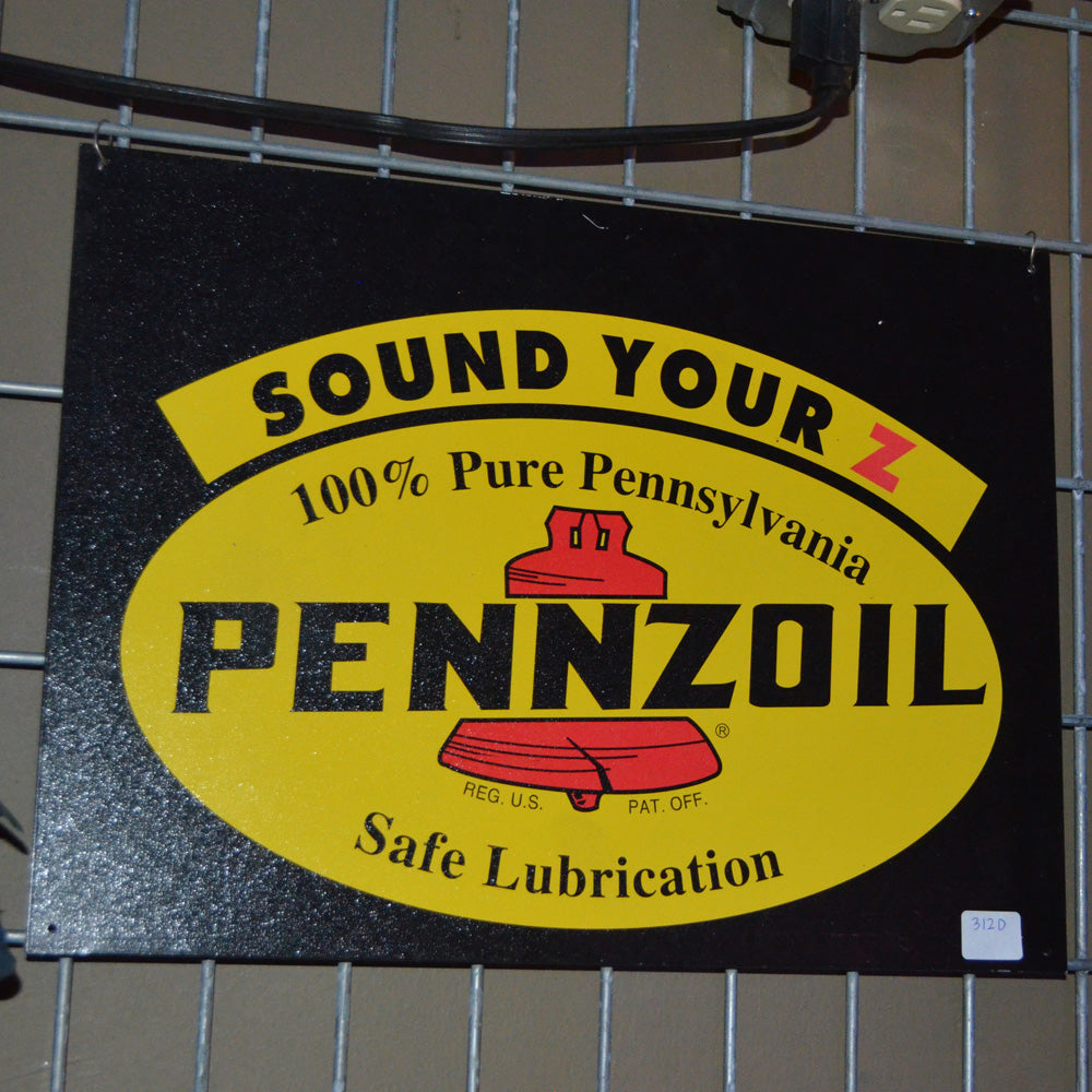 Pennzoil Safe Lubrication Vintage Sign