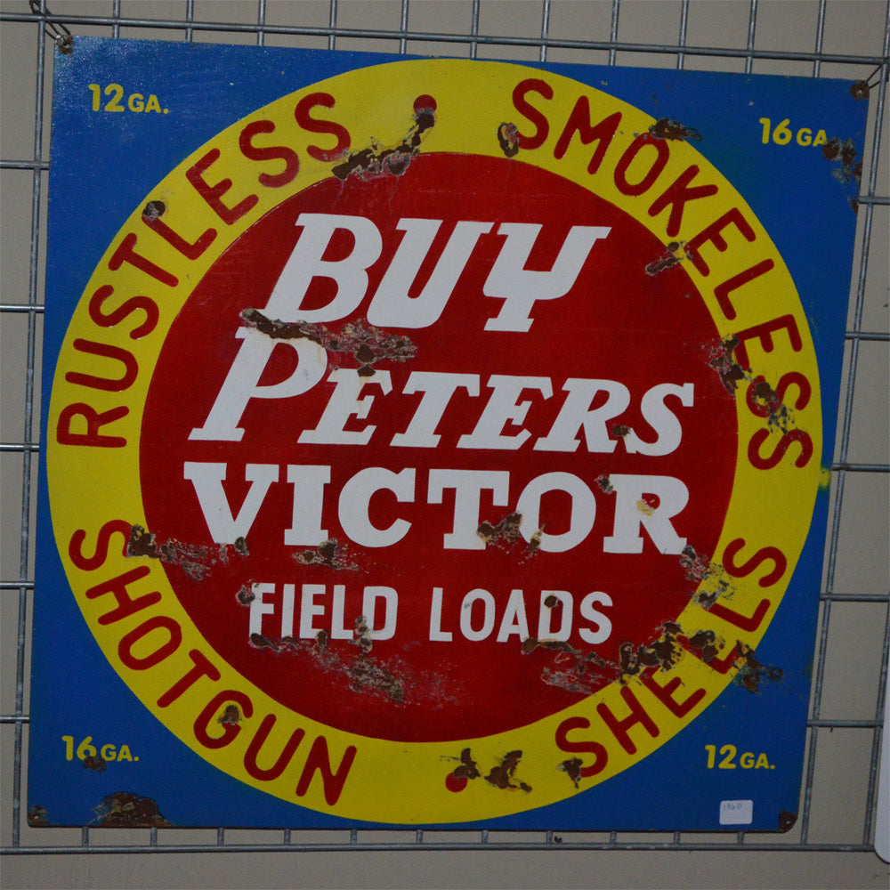 Peters Victor Field Loads Vintage Sign