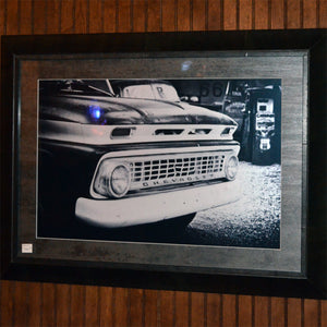Vintage Chevy Truck Front End Framed Photo