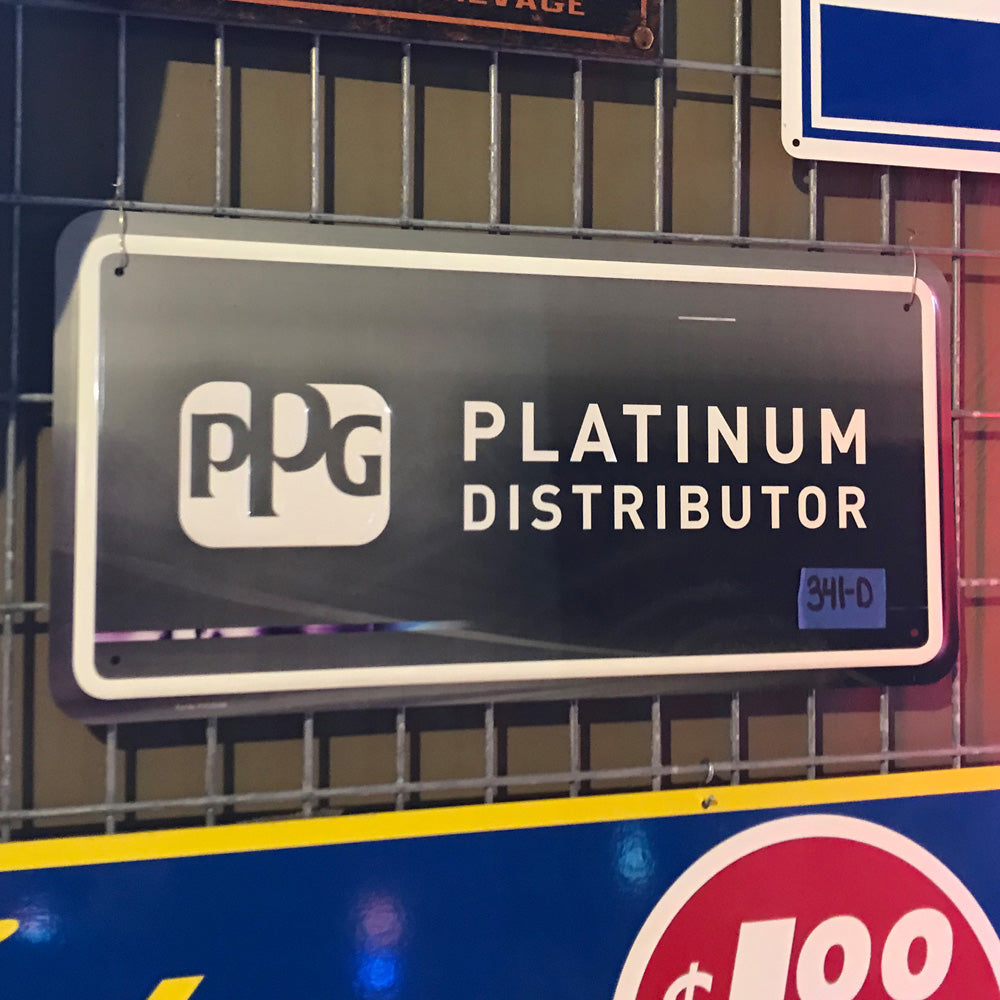 PPG Platinum Distributor Vintage Sign