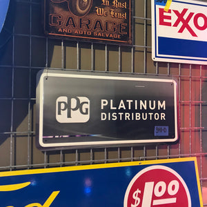 PPG Platinum Distributor Vintage Sign 02