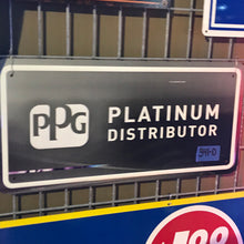 Load image into Gallery viewer, PPG Platinum Distributor Vintage Sign 03