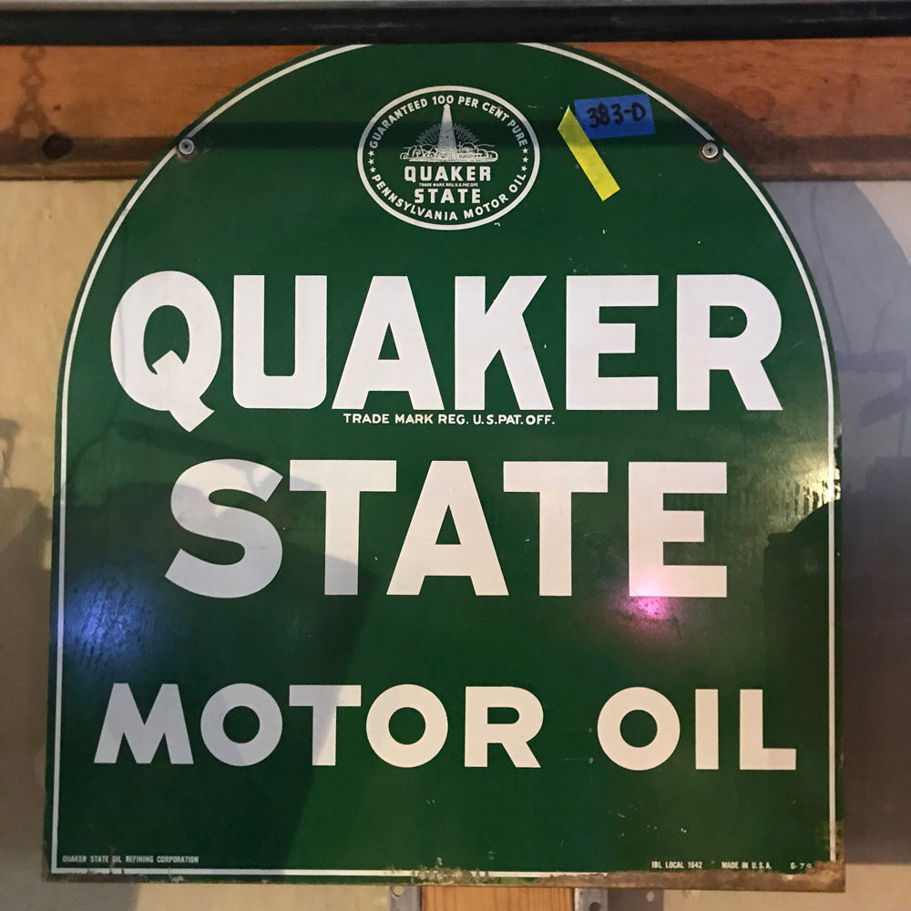 Quaker State Motor Oil Vintage Sign