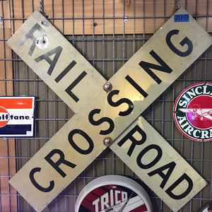 Railroad Crossing Vintage Sign