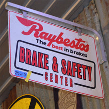 Load image into Gallery viewer, Raybestos Brakes Vintage Flange Sign 03