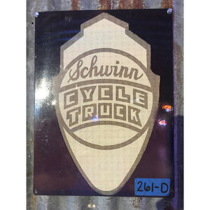 Schwinn Cycle Truck Vintage Sign