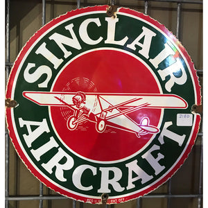 Sinclair Aircraft Fuel Vintage Sign