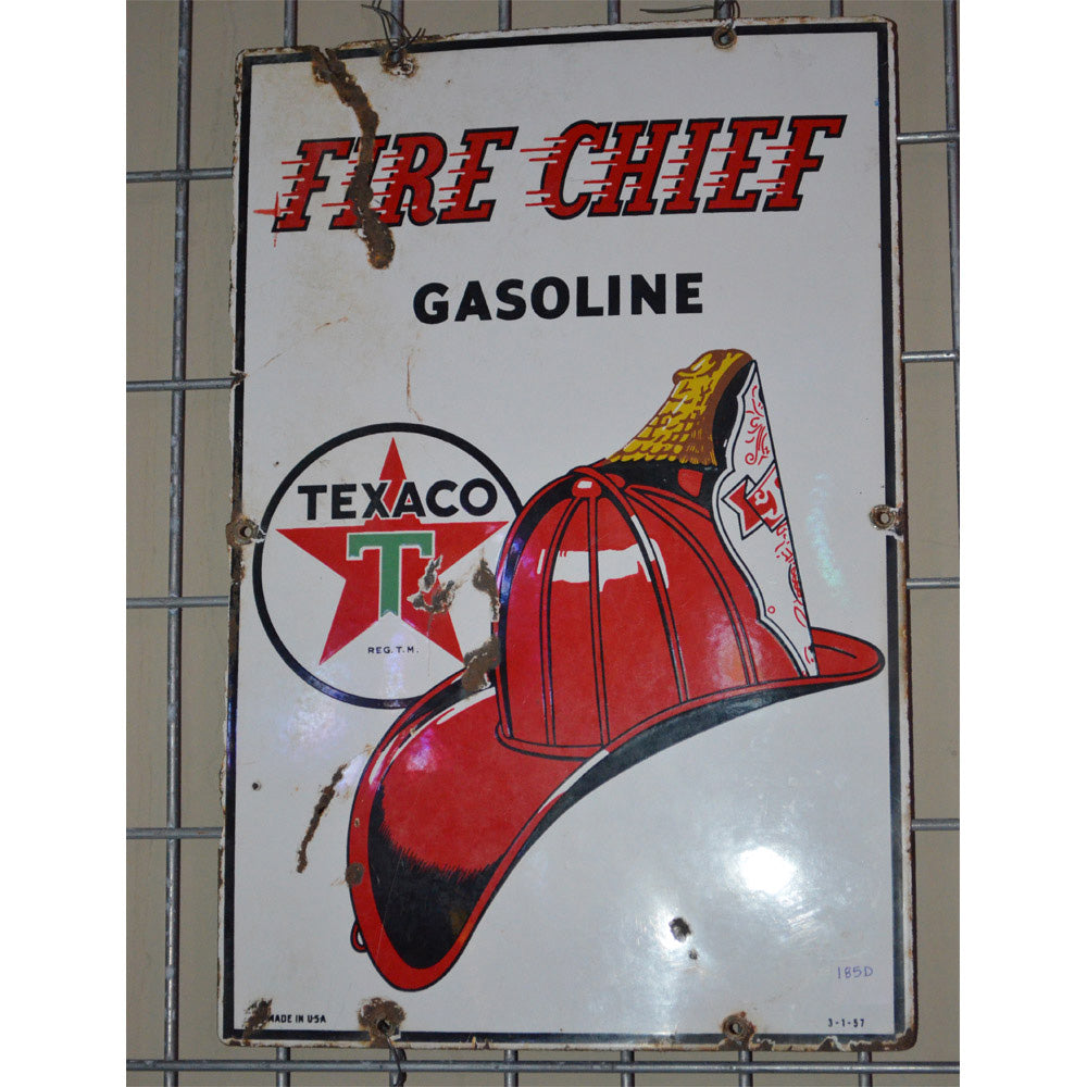 Texaco Fire Chief Gasoling Vintage Sign