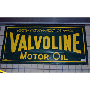 Valvoline Motor Oil Vintage Sign 182D