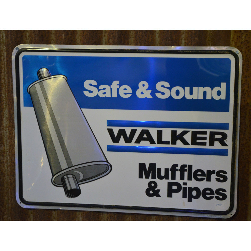 Walker Mufflers and Pipes Vintage Sign