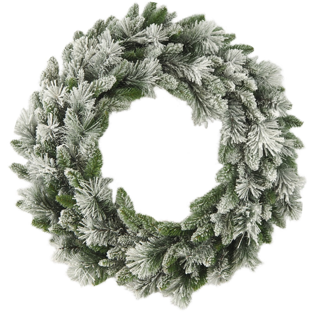 "Flocked Fraser Wreath (30"")"
