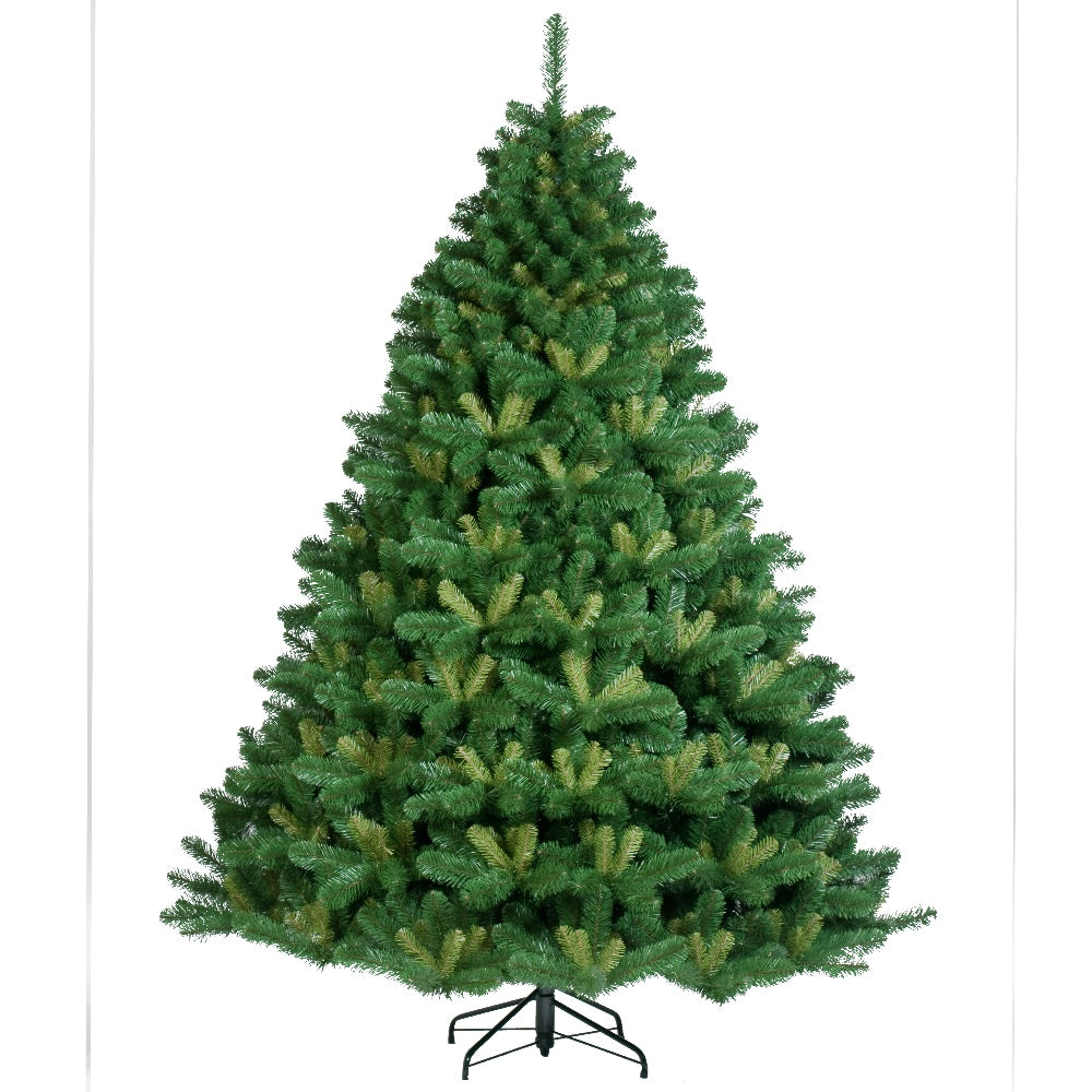 Alberta Spruce, Unlit (7.5') Artificial Christmas Tree With Metal Stand - Soft PVC Plastic For Full Appearance -  Classic - 7.5 ft - Hook On Branches