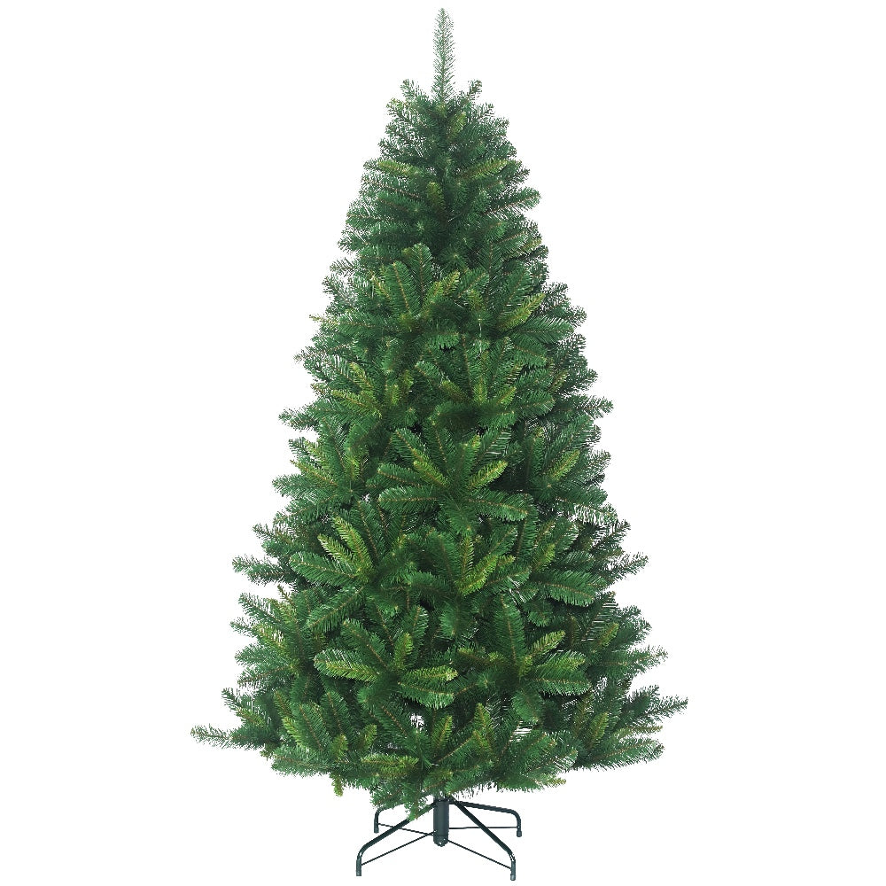 Austrian Pine, Unlit Artificial Christmas Tree With Metal Stand - Soft PVC Plastic For Full Appearance - Classic - Hook On Branches