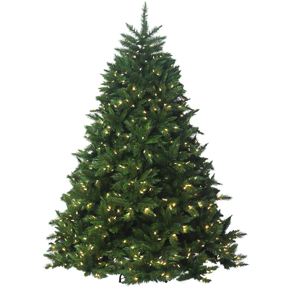 Brunswick Spruce LED- Artificial Prelit Christmas Tree with LED Light & Stand  - Soft PVC Plastic For Full Appearance - Pre lit Lights On Every Branch - Hook On Branches