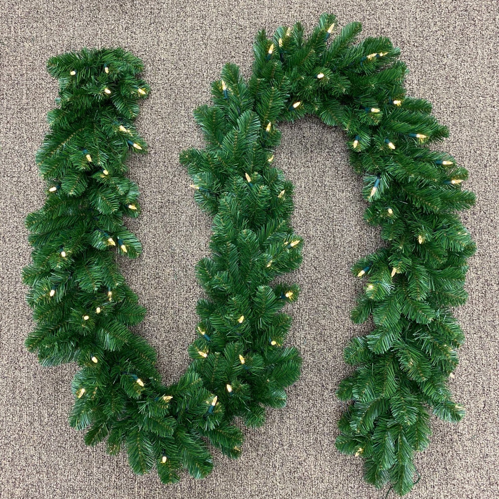 "Colorado Garland (10' x 12"")  Pre-lit 80LED Clear Lights - Battery Operated"