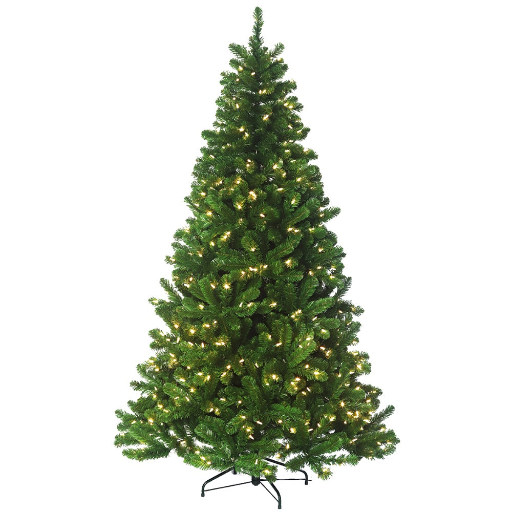 Douglas Fir LED - Artificial Prelit Christmas Tree with LED Light & Stand - Faux Evergreen Douglas Fir Trees - Soft PVC Plastic For Full Appearance - Pre lit Lights On Every Branch, Hook on Branches