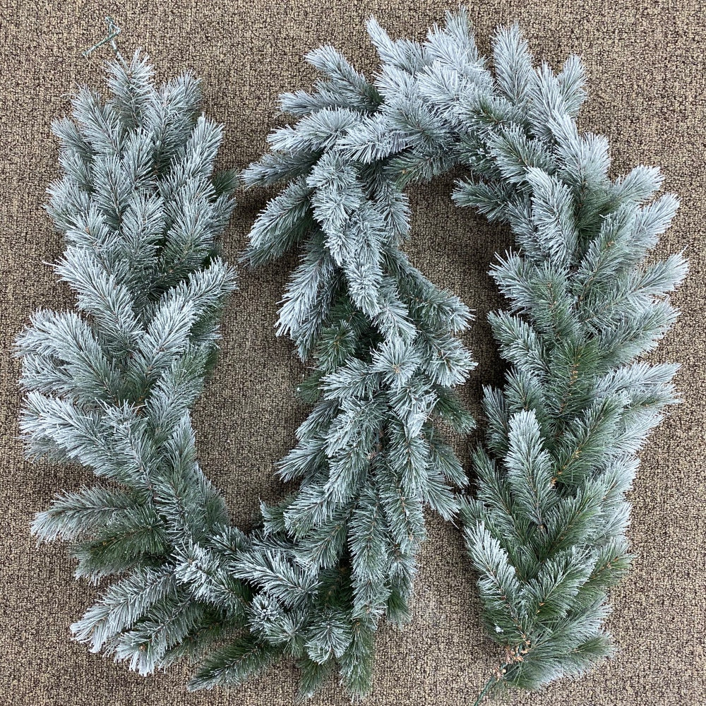 "Flocked Vermont Garland (9' x 12"")"