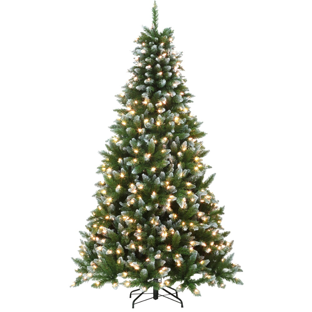 Fraser Fir LED - Artificial Prelit Christmas Tree with LED Light & Metal Stand  - Soft PVC Plastic For Full Appearance - Pre lit Lights On Every Branch – Hook On Branches