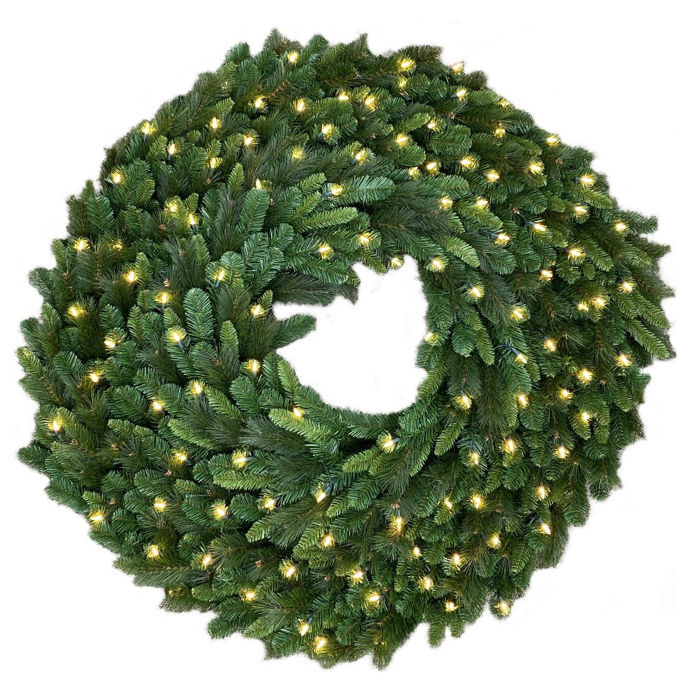 "Grandville Wreath [Adaptor] (72"")  Prelit LED Clear Light"